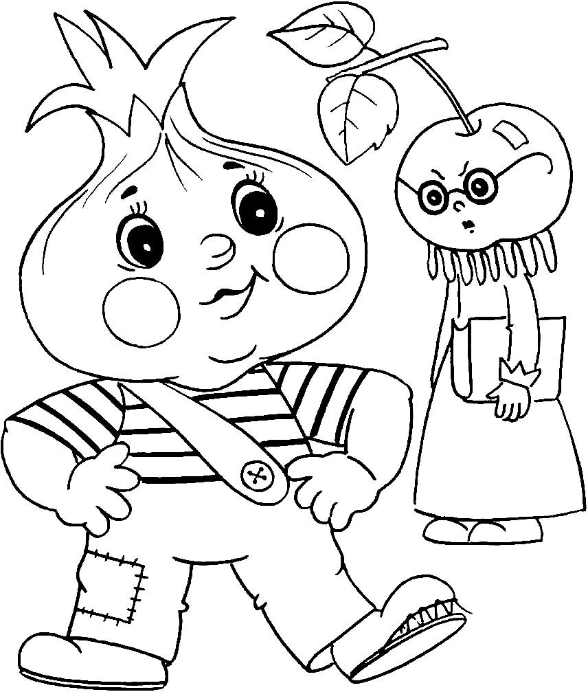 ЧИПОЛЛИНО | Раскраски для детей распечатать бесплатно в ...