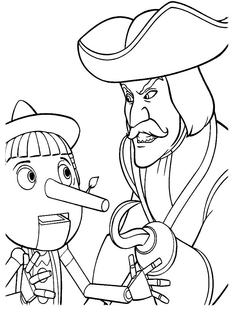 Раскраска Пиноккио из Шрека
