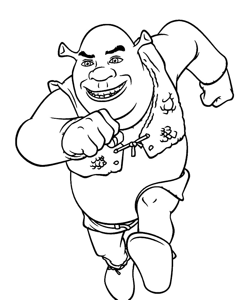 Раскраска Шрек (Shrek)