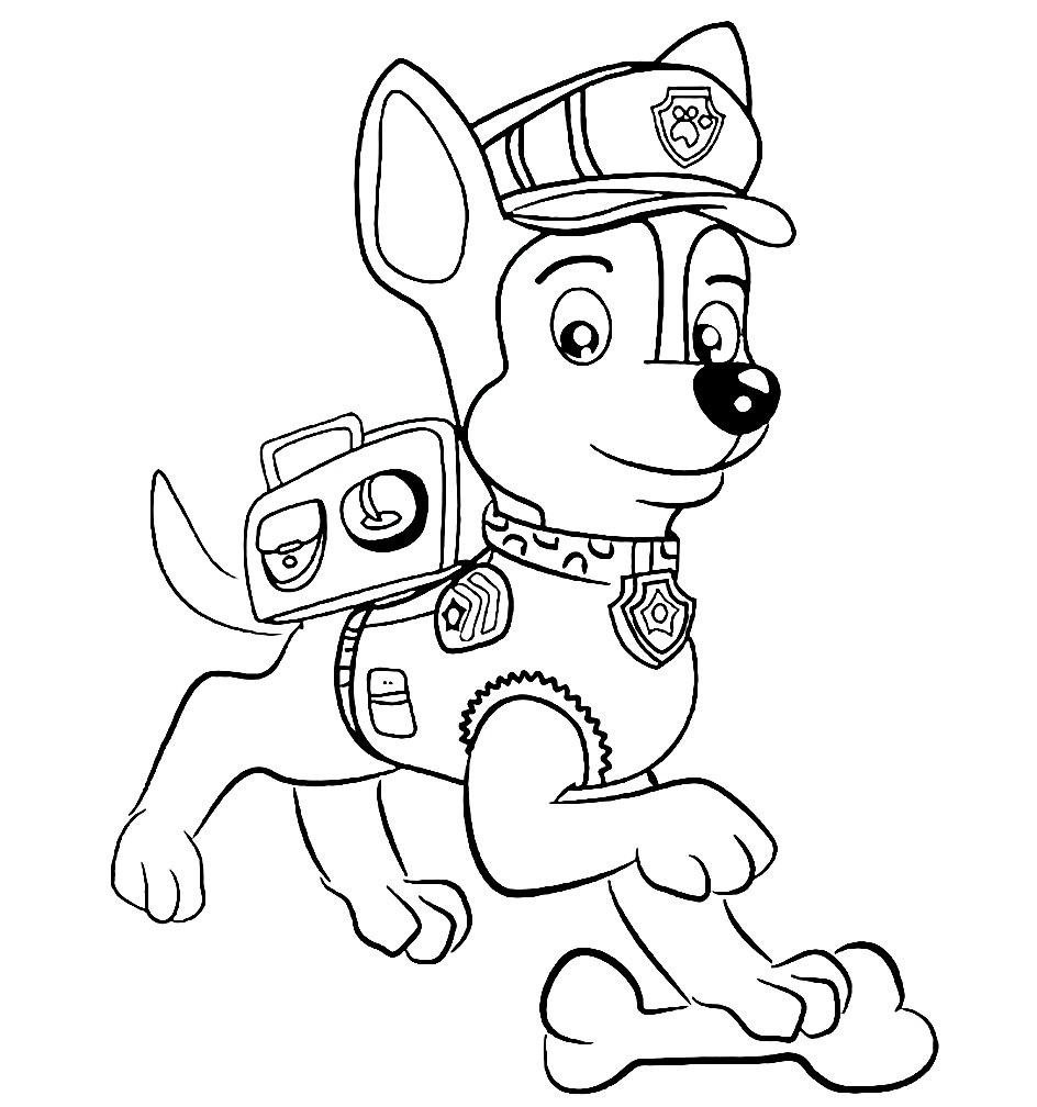 Раскраска Гонщик — щенок полицейский