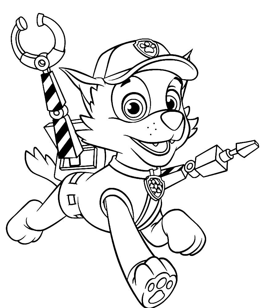Раскраска Рокки — щенок ремонтник