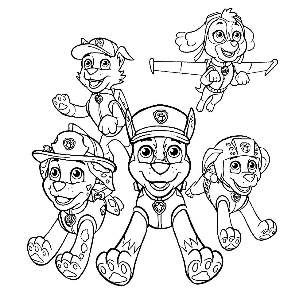 Раскраска PAW Patrol | Раскраски для детей распечатать ...