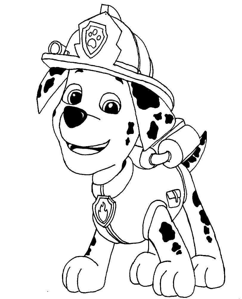 Раскраска Маршал — щенок далматинец