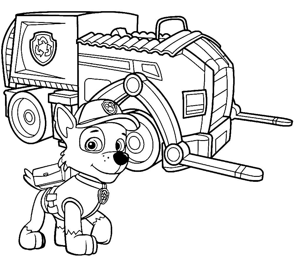 Раскраска щенок Рокки | Раскраски для детей распечатать ...