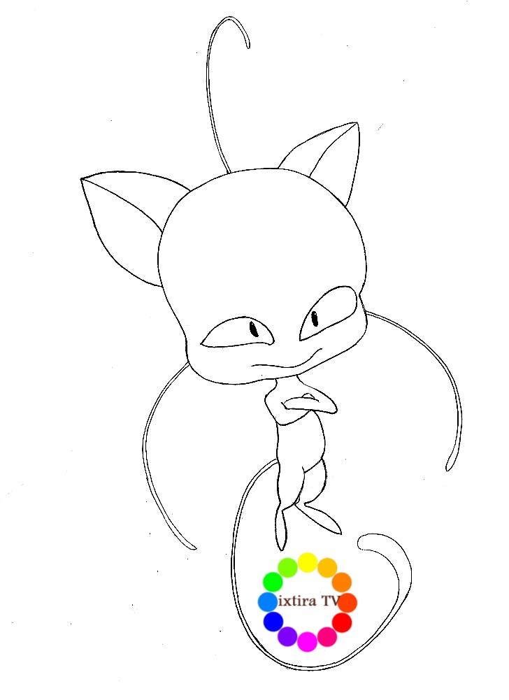 Раскраска кот Плагг