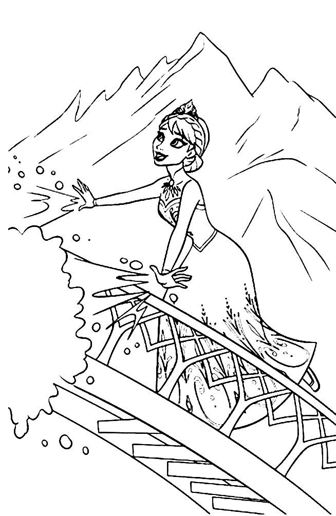 Раскраска Эльза — королева Эренделла