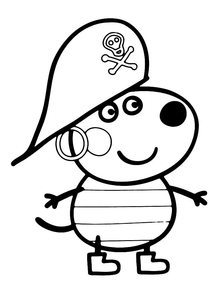 Раскраска Бенни играет в пирата