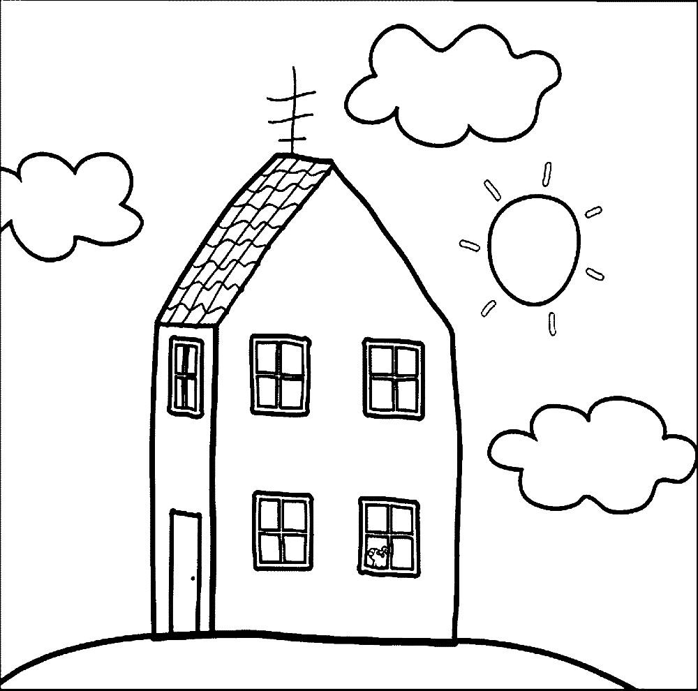 Раскраска дом Свинки Пеппы