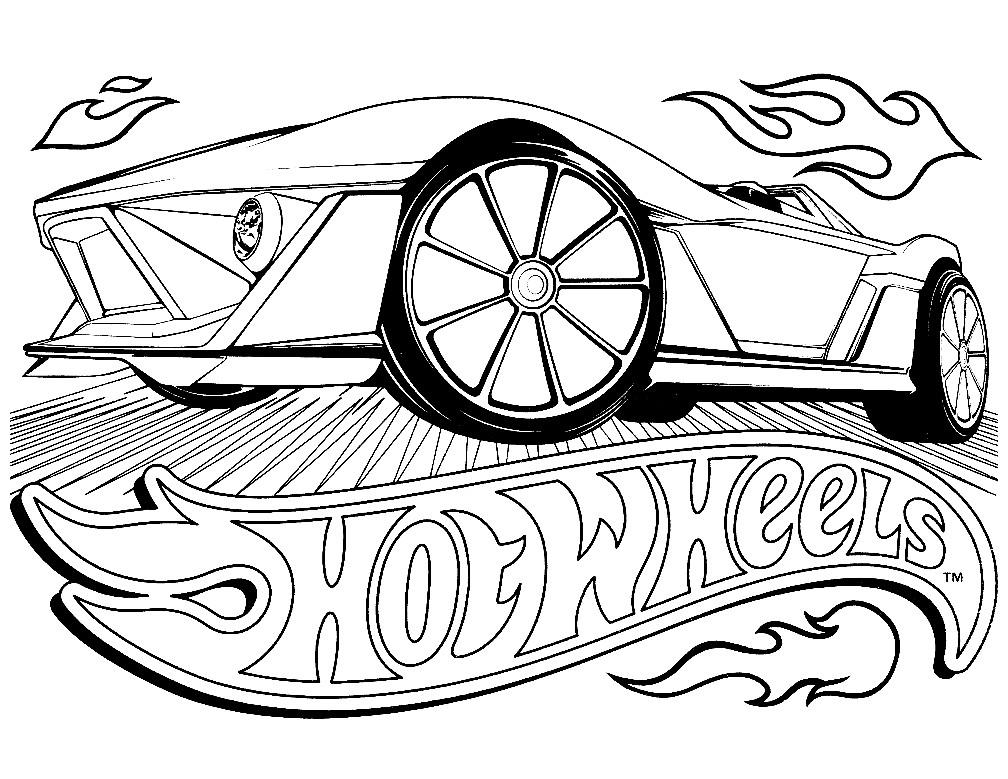 Раскраска логотип Hot Wheels