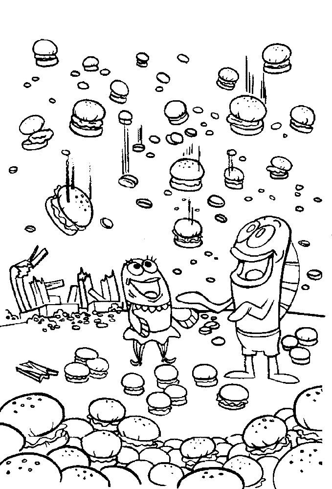 СПАНЧ БОБ (ГУБКА БОБ) | Раскраски для детей распечатать ...