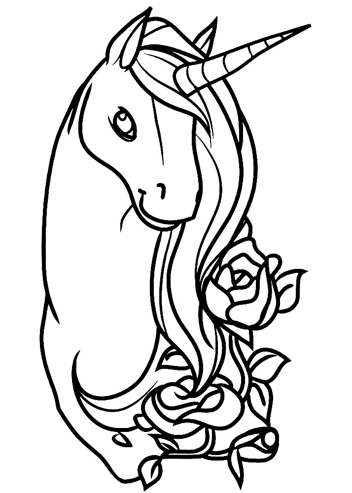 Раскраска Единорог для девочек