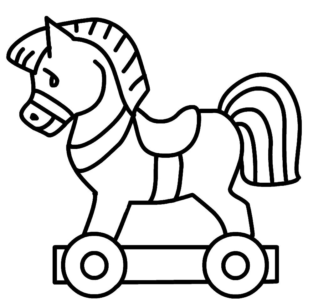 Раскраска лошадь для малышей | Раскраски для детей ...