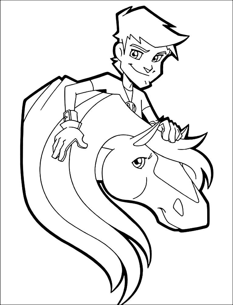 Раскраска лошадь из мультфильма