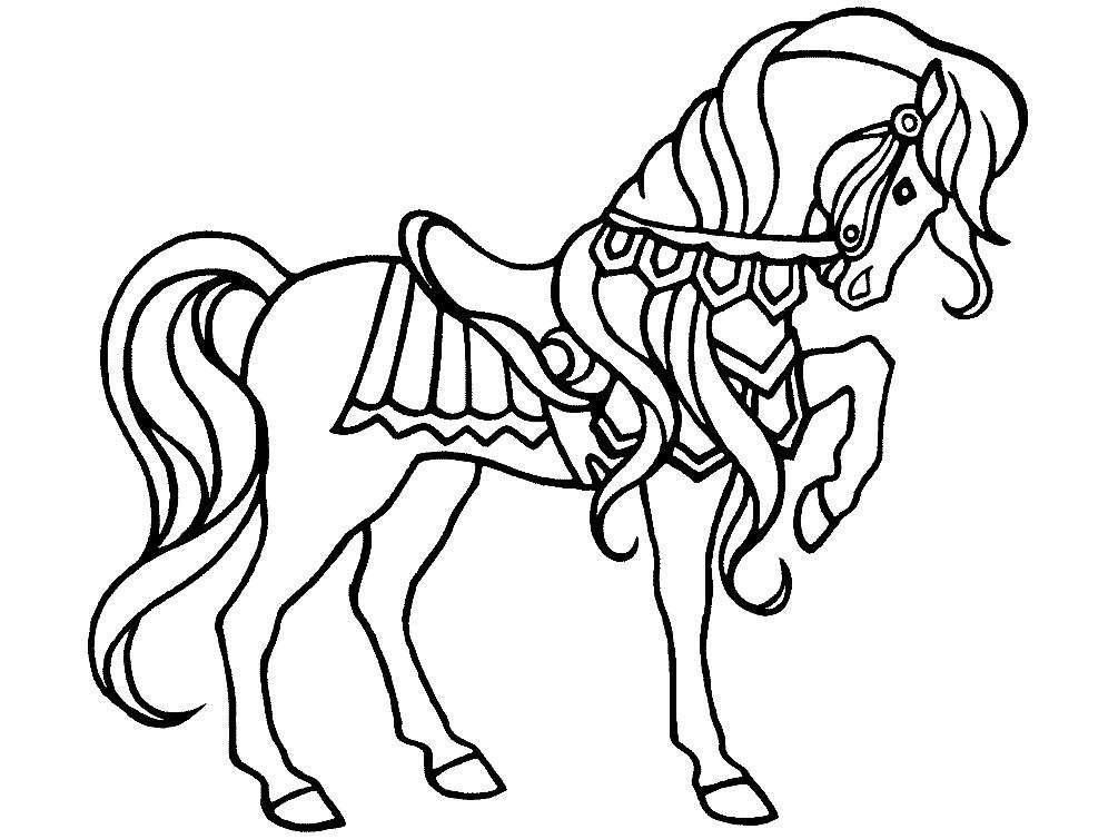Раскраска лошадь для детей
