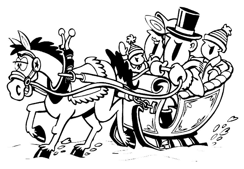 Тройка лошадей картинки раскраски, картинки