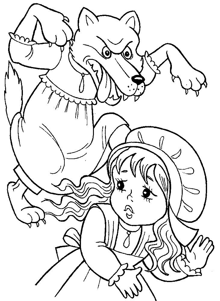 КРАСНАЯ ШАПОЧКА | Раскраски для детей распечатать ...