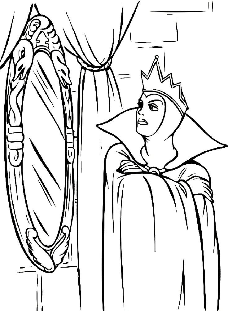 Раскраска Снежная королева в ледяном замке