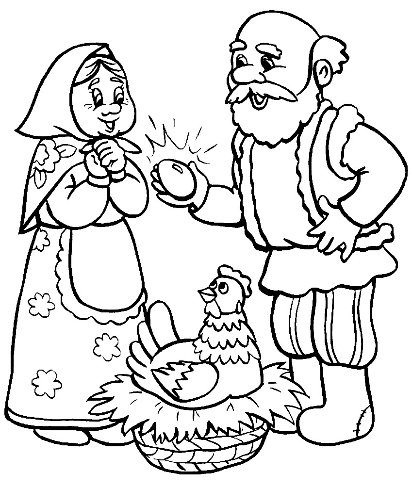 КУРОЧКА РЯБА | Раскраски для детей распечатать бесплатно в ...