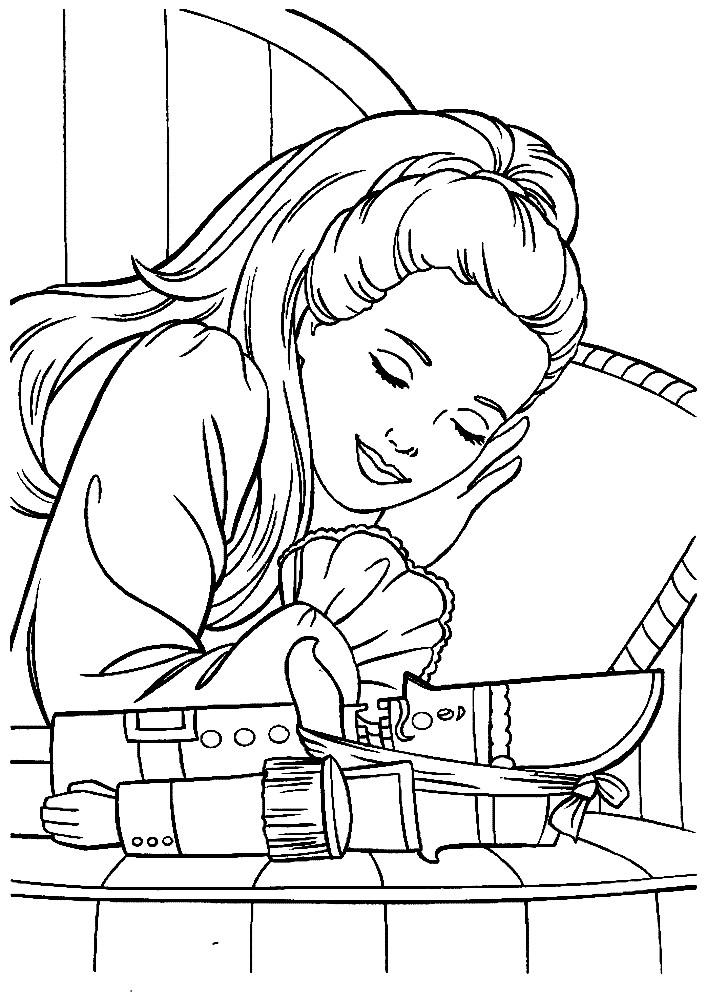 Раскраска Щелкунчик и Барби