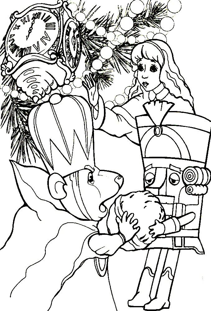 Раскраска Щелкунчик и Мышиный король
