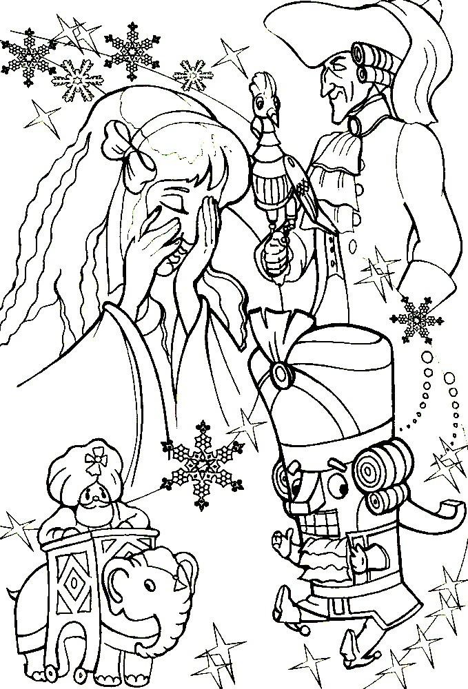 Раскраска герои сказки Щелкунчик