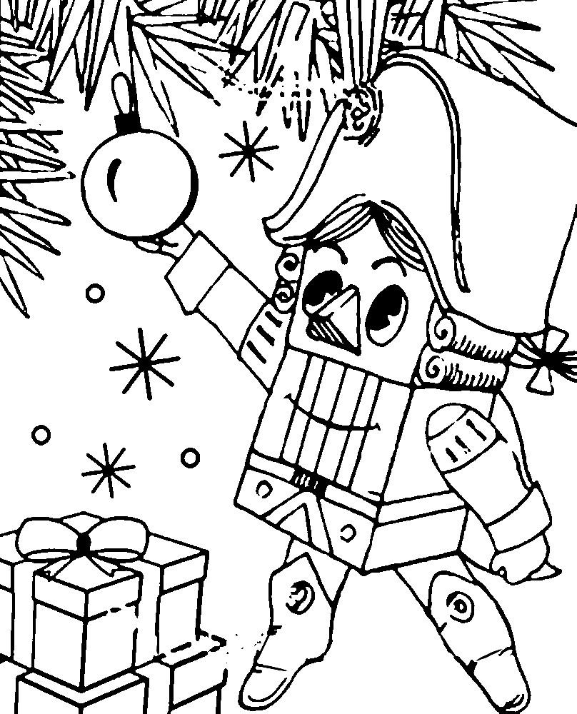 Раскраска Щелкунчик — Рождественские истории