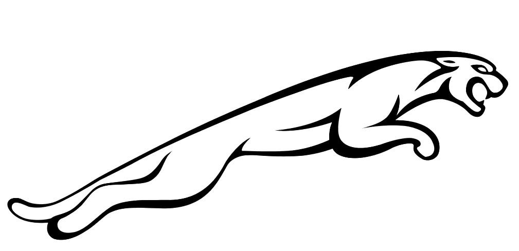 Раскраска логотип ягуара