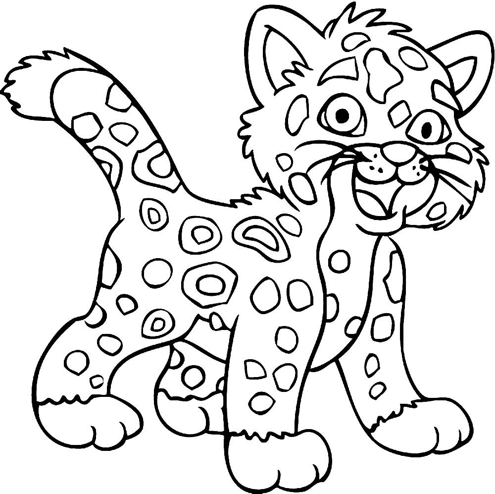 Раскраска ягуар для малышей