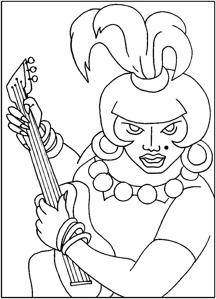 Раскраска Атаманша из Бременских музыкантов