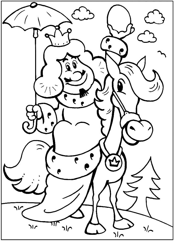 Раскраска король из Бременских музыкантов