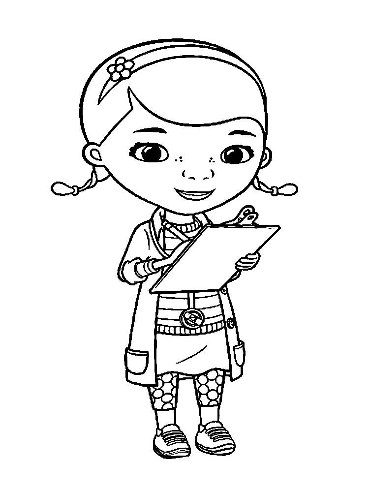 Раскраска девочка Дотти