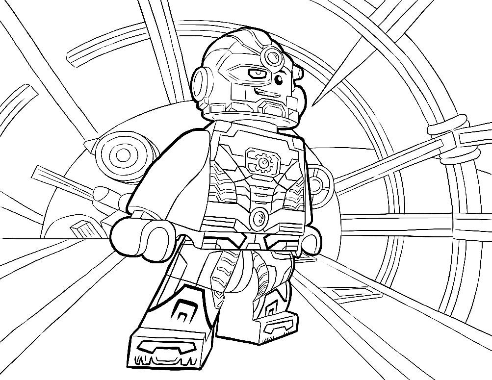 Раскраска Лего Киборг