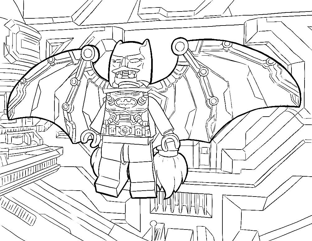 Раскраска Лего Бэтмен 3