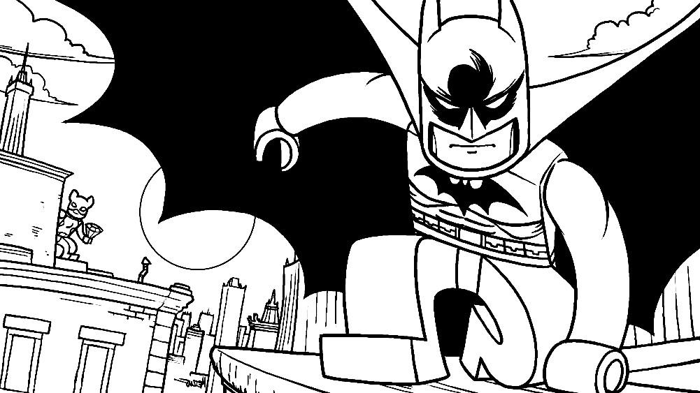Раскраска Лего Бетмен