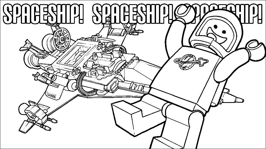 Раскраска Бенни и космический корабль