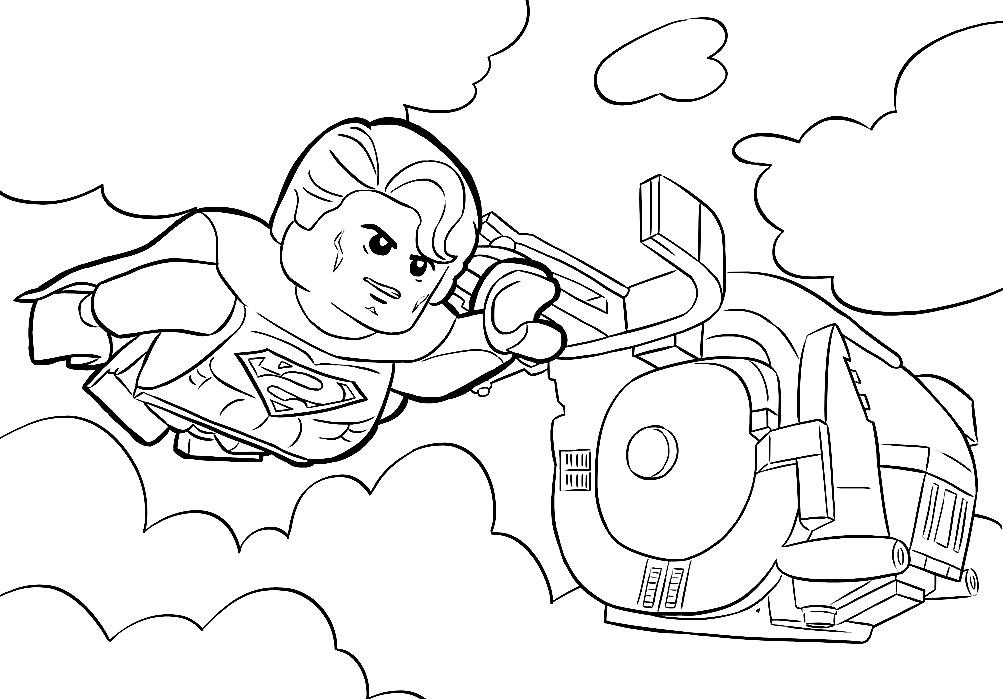 Раскраска Лего Супермен