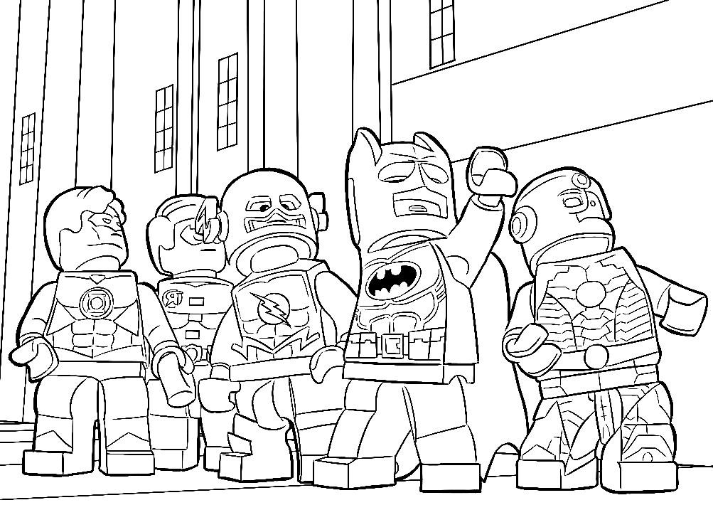 Раскраска Лего — Лига справедливости