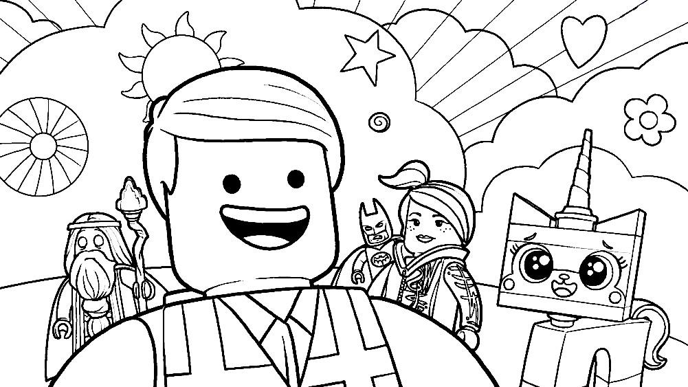 Раскраска Лего фильм