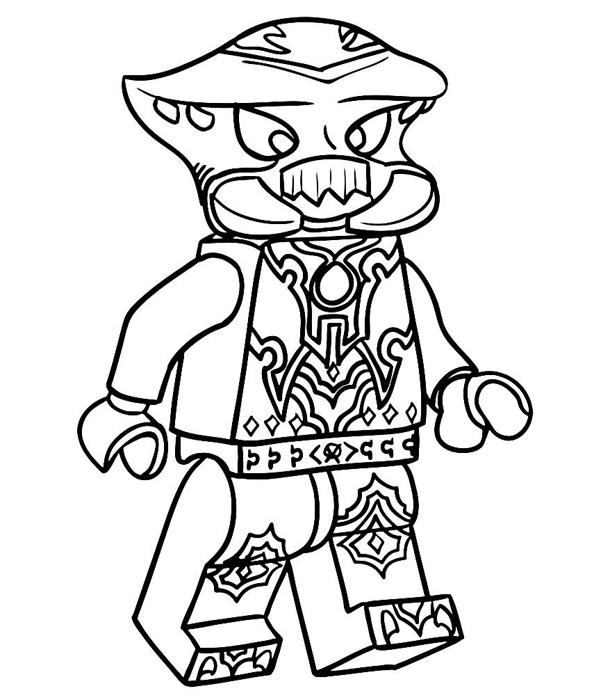 Раскраска Лего Чима — Сколдер