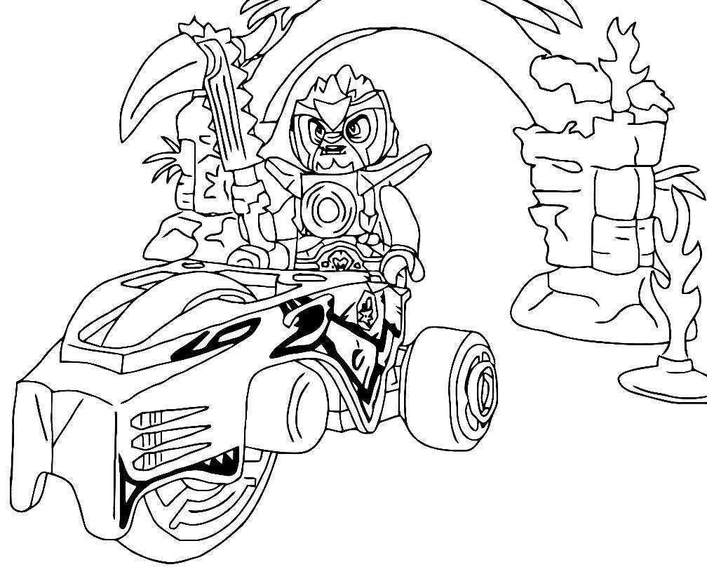 Раскраска Лего Чима — Лавертус