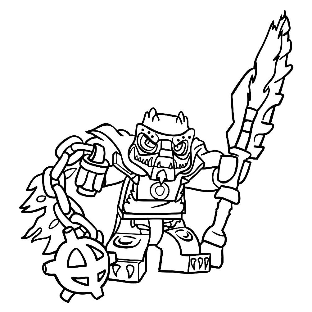 Раскраска Лего Чима — Кроминус