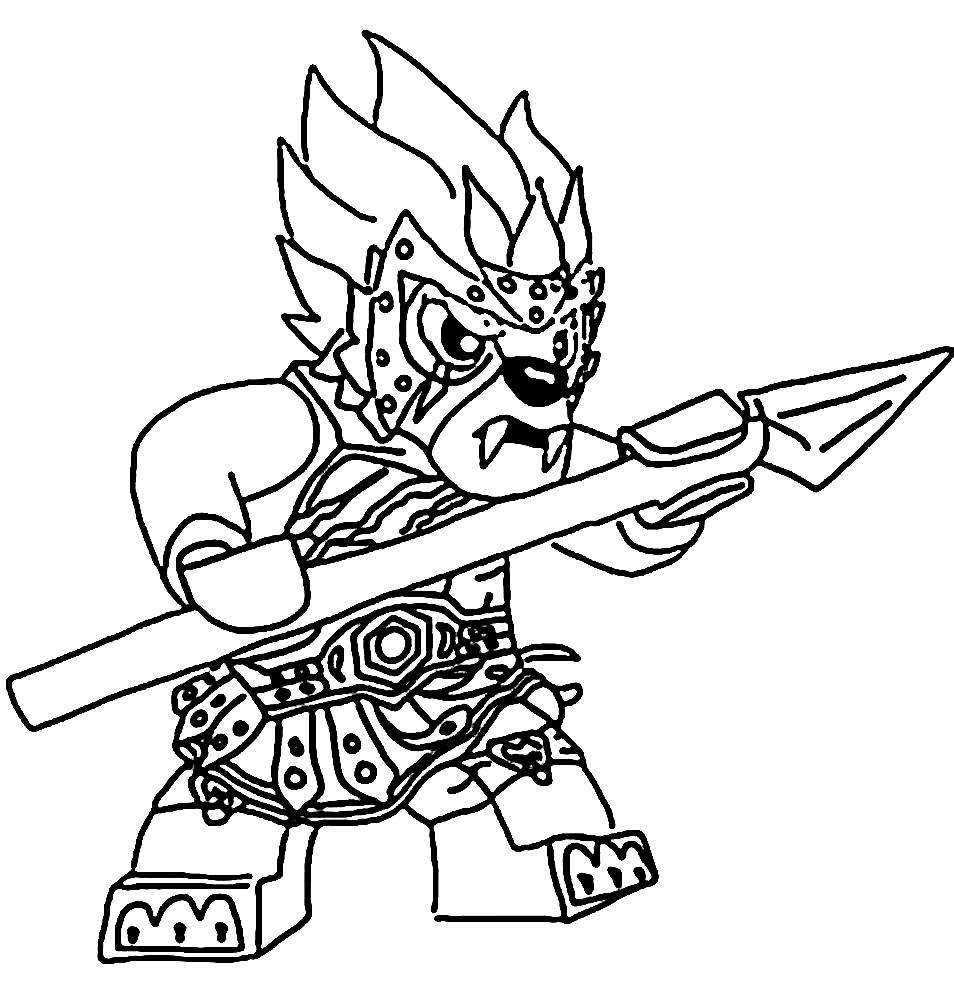 Раскраска Лавал с оружием
