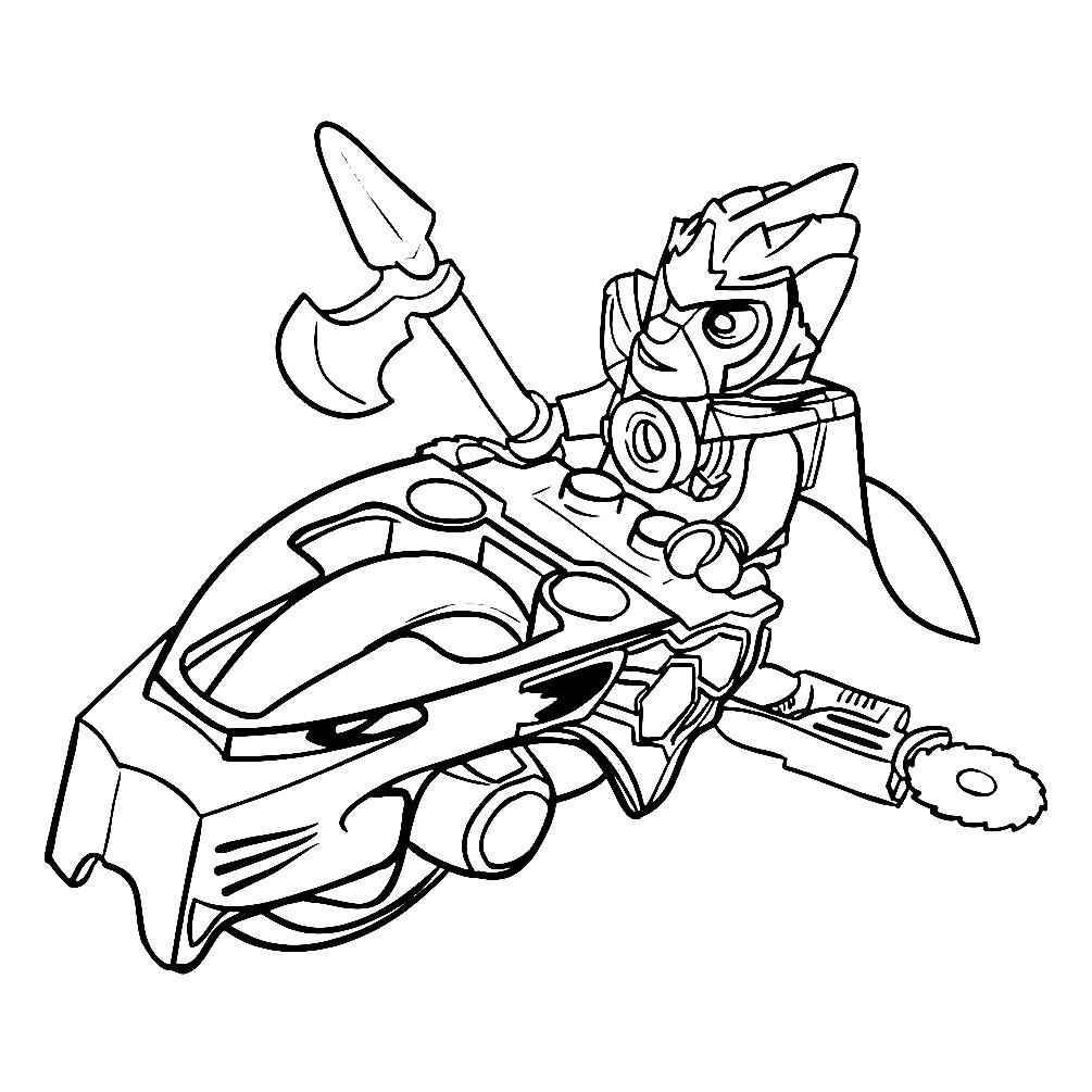 Раскраска Lion Speedor — Лего Чима