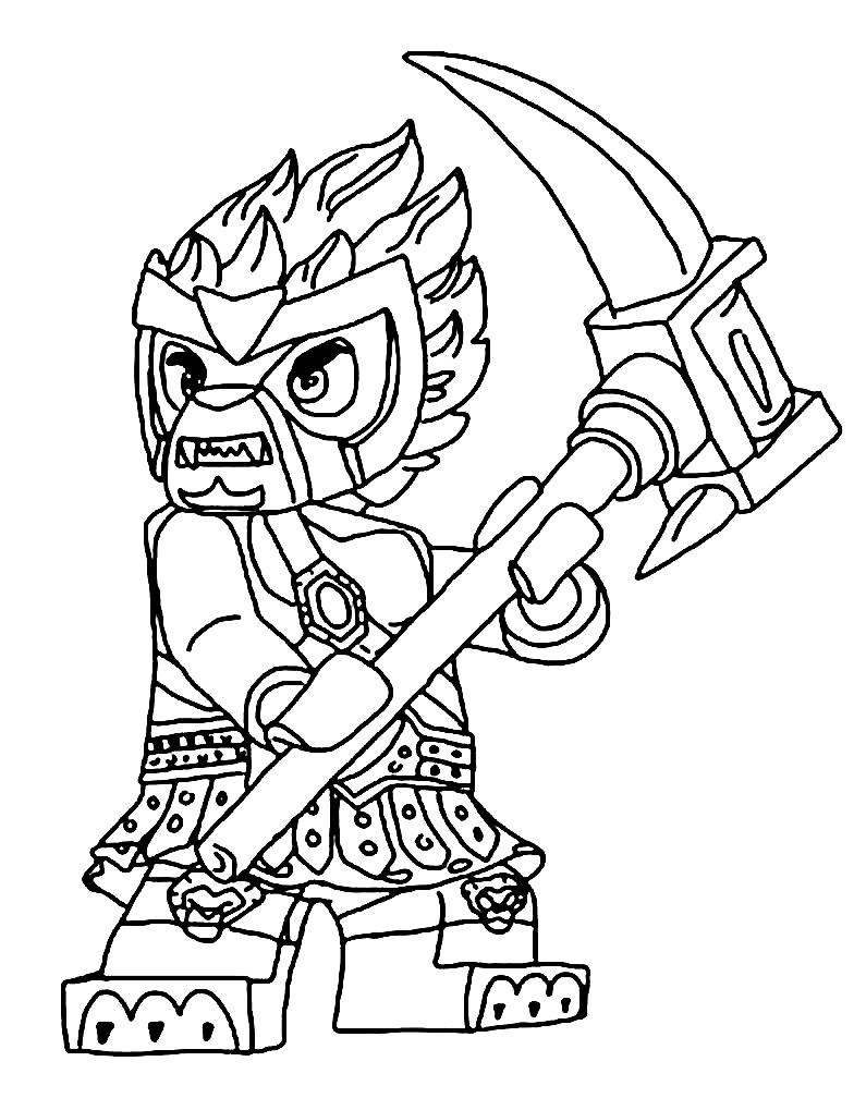 Раскраска персонаж из Лего Чима