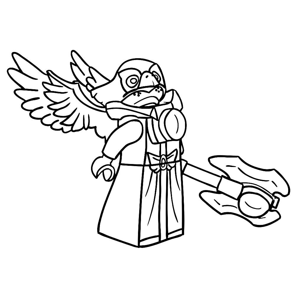 Раскраска Лего Чима — Эволд