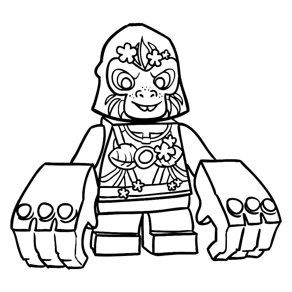 Раскраска Глуна из Лего Чима