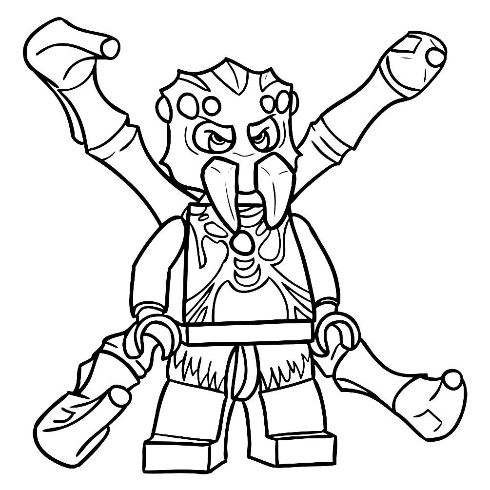 Раскраска Паук Спаракон из Лего Чима