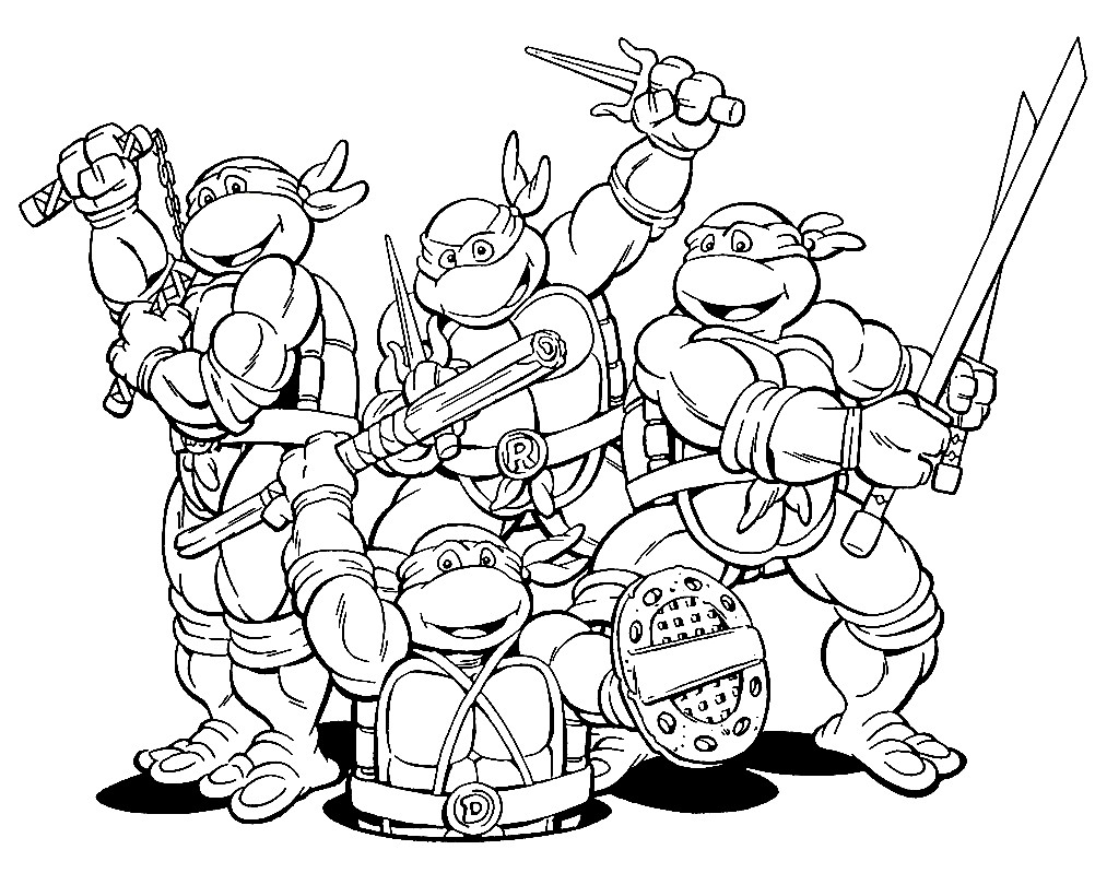 Раскраска Ninja Turtles