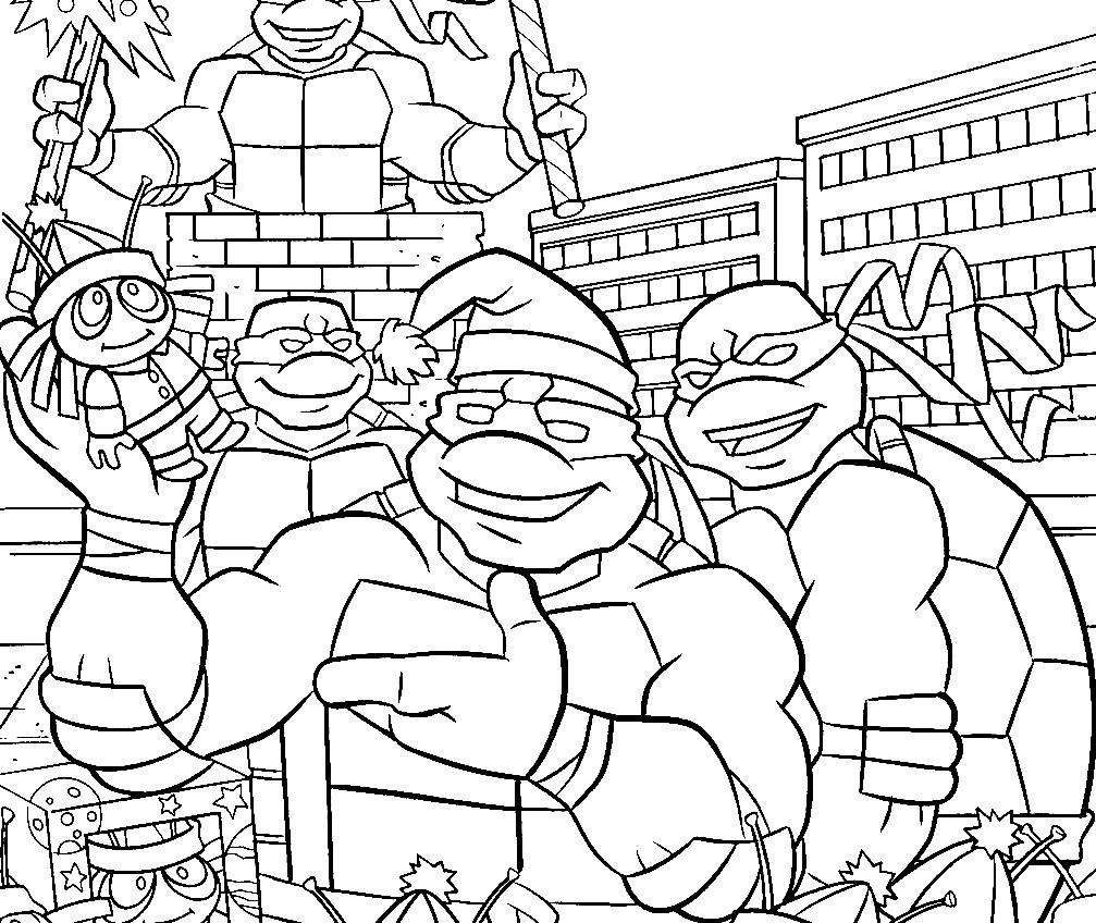 Раскраска 是忍者神龟