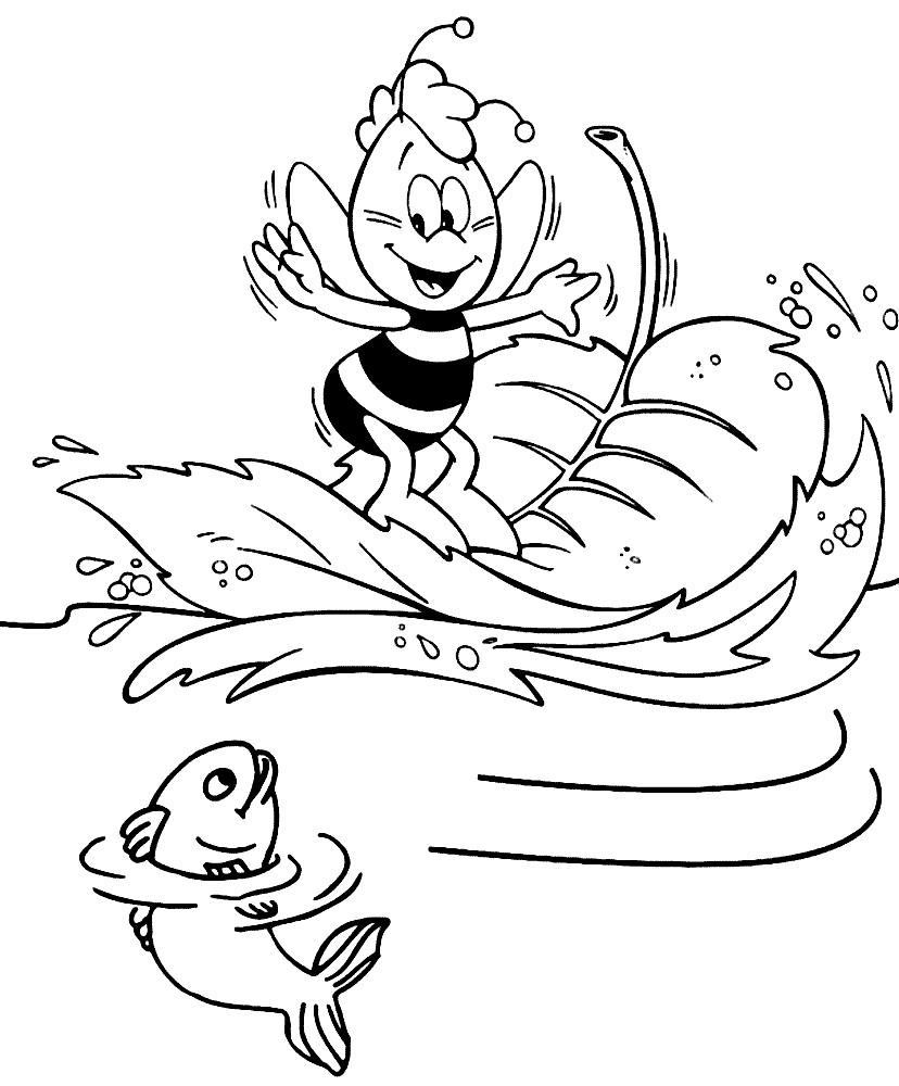 Раскраска пчеленок Вилли